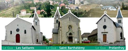 Les 3 clochers de la commune du Gua