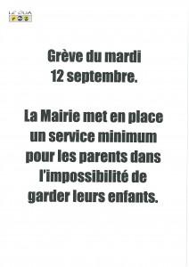 grève du 12 septembre