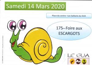 Affiche Foires aux escargots 2020