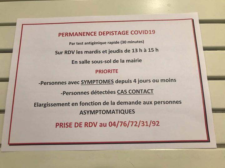 Permanence Dépistage COVID